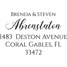 Personalized Self Inking Return Address Stamp - The Brenda