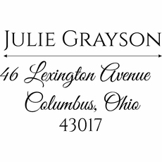 Personalized Self Inking Stamps - The Grayson