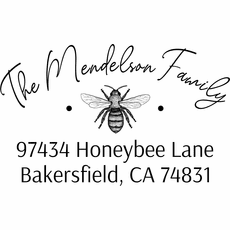 Return Address Stamp - The Bee