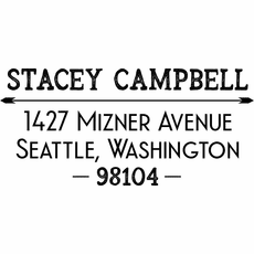 Return Address Stamp - The Campbell