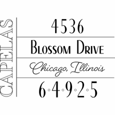Return Address Stamp - The Capelas