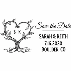 Save The Date Stamp - The Keith