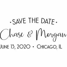Save The Date Stamps - The Chase