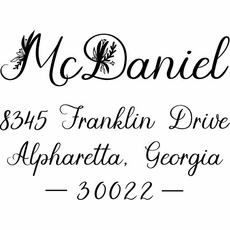 Self Inking Address Stamp - The McDaniel