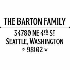 Self Inking Custom Address Stamp - The Barton