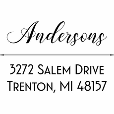 Self Inking Return Address Stamp - The Andersons