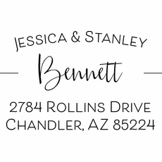 Self Inking Return Address Stamp - The Bennett
