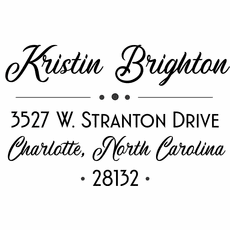 Self Inking Return Address Stamp - The Kristin