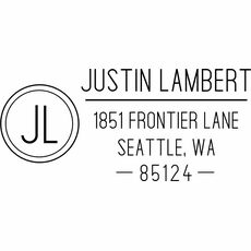 Self Inking Return Address Stamp - The Lambert