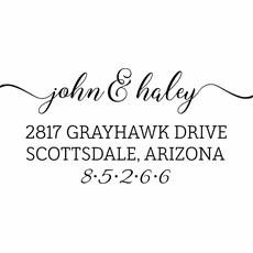 Self Inking Stamp - The Haley