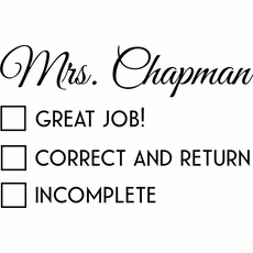 Teacher Stamps - The Chapman