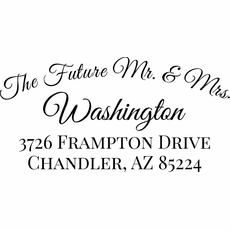 The Future Mr and Mrs Address Stamp - The Washington