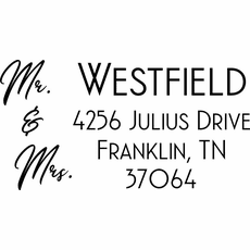 Wedding Return Address Stamp - The Westfield