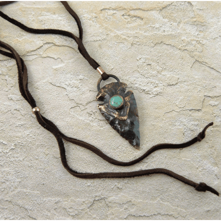 Arrowhead with Turquoise Necklace