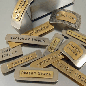 Latin Phrase Jewelry