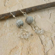 Silver Dangle Earrings - Moonstone