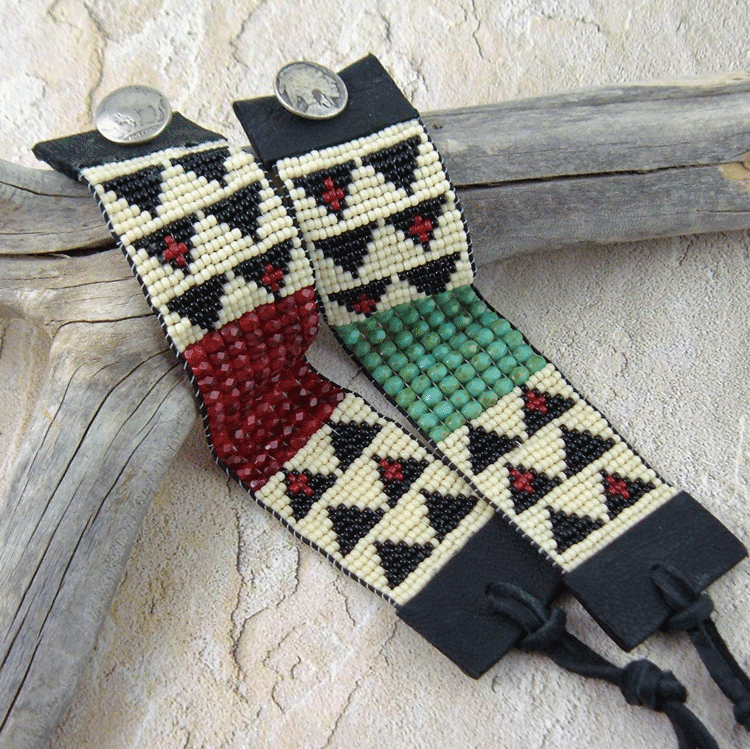 Southwestern Bead and Leather Bracelet