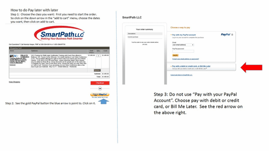 Finance Your Training Using PayPal - U.S. Customers only