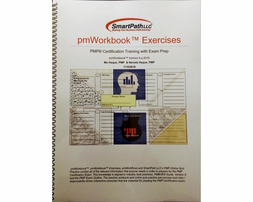 For SmartPath LLC's PMP Boot Camp trainees pmWorkbook and pmWorkbook Exercises' Book