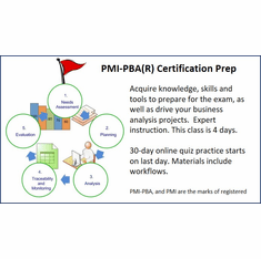 PMI-PBA(R) Certification, <br> 100% Live Online.<br>  The exam is not included.