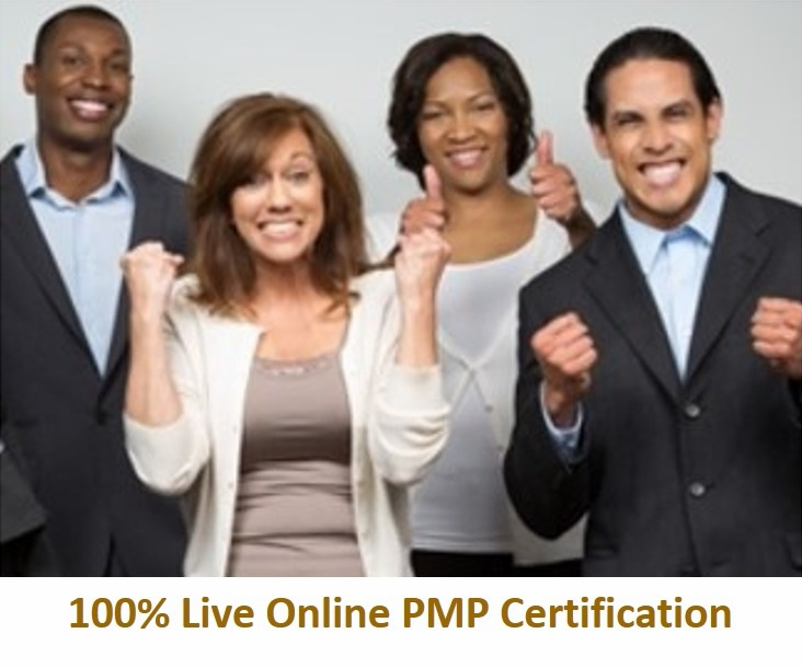 PMP(R) Certification Training<br>with Exam Prep, 100% Live Online<br> Using Your Computer.  The exam is <br>not included.