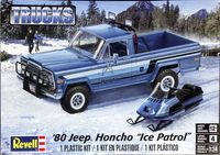 """Revell 1980 Jeep Honcho """"Ice Patrol"""" with Snowmobile, 1/25th Scale"""
