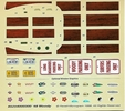 Revell 1948 Ford Woody Station Wagon Decals, 5 x 4.5 inches