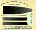 """Monogram 1982 Corvette Coupe """"Collector's Edition"""" Decals, 3 x 2.5 inches"""