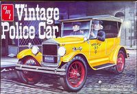"""AMT 1927 Ford Model """"T"""" Phaeton """"Vintage Police Car"""" with Optional Police Equipment and Side Curtains"""