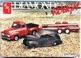 """AMT 1940 Ford 2 Door Sedan, 1953 Ford Pickup and Trailer """"Diamond in the Rough"""""""