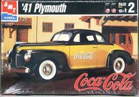 """AMT 1941 Plymouth Coupe, """"Coca-Cola"""" Issue"""