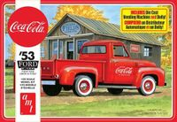 AMT 1953 Ford F-100 Pickup, Stock, Custom or Service Truck with Coke Machine and Dolly and Coca-Cola Decals