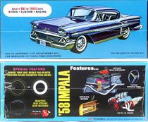 AMT 1958 Chevy Impala Hardtop, Molded in White