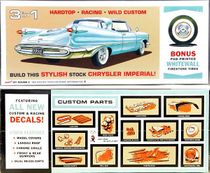 AMT 1959 Chrysler Imperial Hardtop or Convertible, 3 in 1, Stock, Custom or Race