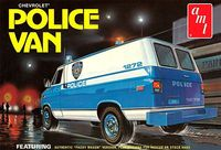 AMT 1975 Chevy Panel Police Van, Stock, Police or Rescue Van