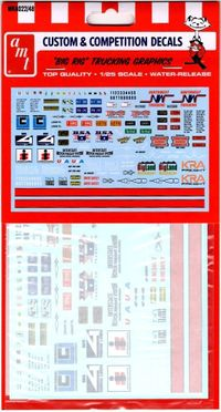 AMT Big Rig Trucking Graphics Deluxe Decal Pack