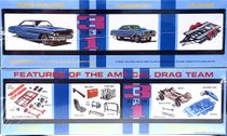 AMT Cal Drag Combo - 1964 Ford Galaxie Hardtop, 1965 Ford Falcon Funny Car & Trailer