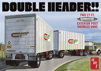 """AMT """"Double Header"""" """"Consolidated Freightways"""" Trailmobile 27' Tandam Trailers"""