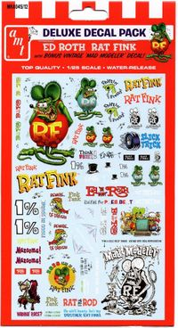 "AMT Ed Roth ""Rat Fink"" Deluxe Decal Pack"