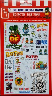 """AMT Ed Roth """"Rat Fink"""" Deluxe Decal Pack"""