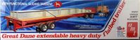 AMT (ERTL) Great Dane Extendable Heavy Duty Flatbed Trailer with Functional Sliding Tandem Axle