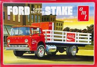 AMT Ford C-600 Tilt Cab Stake Truck Coca-Cola Delivery with Two 1970's Coke Machines