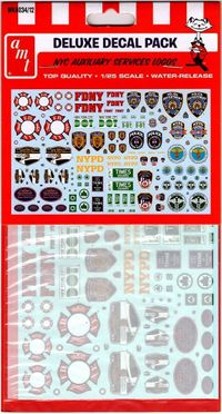 AMT NYC Auxiliary Services Logos Deluxe Decal Pack
