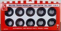 """AMT Semi Tractor """"Tall Tires"""" 11.00-22 Big Rig Truck Modeling Parts Pack"""