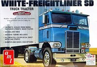 AMT White Freightliner Single-Drive Cabover Semi Truck Tractor