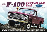Moebius 1970 Ford F-100 Custom Cab 4X4 Longbed Pickup with 360 V-8 Automatic