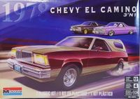 Monogram 1978 Chevy El Camino, Stock, Lowrider or Street Machine