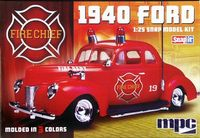 """MPC 1940 Ford Coupe """"Fire Chief"""" Snap Kit"""