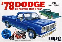 MPC 1978 Dodge D100 Longbed Sweptside 2WD Pickup with Rupp Roadster Minibike