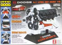 Hawk (Lindberg) Dodge 6.1 (426) Liter SRT Hemi V8 Engine, 1/6th Scale